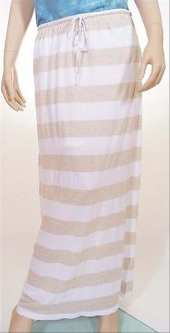 Preload https://item4.tradesy.com/images/cc-california-womens-oatmeal-stripe-lined-maxi-long-skirt-white-5500888-0-0.jpg?width=400&height=650