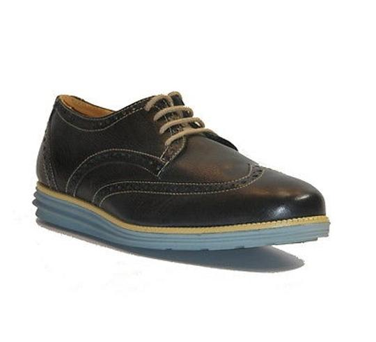 Sandro Moscoloni Drake Mens Navy Leather Wingtip Oxfords Dress Shoes -11.5
