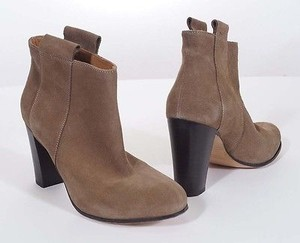 Other Lemare 0604 Womens Taupe Suede Leather Cros Heels Ankle Italy Brown Boots