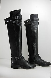 Other Sam Edelman Portland Womens Leather Over The Knee Riding Black Boots