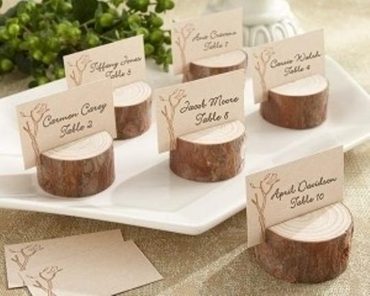 Kate Aspen Brown 96 Rustic Wood Place Card Holders Wedding Favors