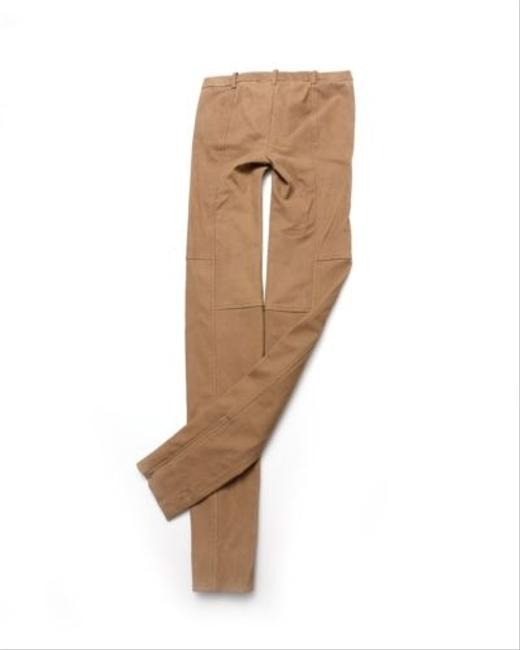 Preload https://item2.tradesy.com/images/ralph-lauren-blue-label-womens-brown-lamb-suede-leather-skinny-riding-pants-0-5501011-0-0.jpg?width=400&height=650