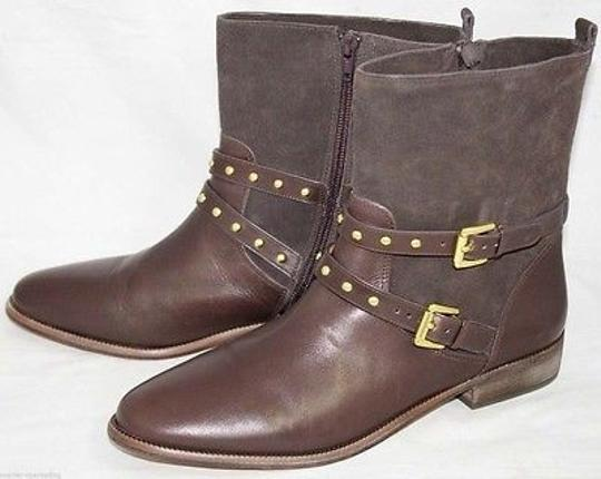 Coach Lilliana Womens Suede Leather Ankle Brown Boots