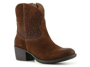 Other Boc Born Concepts Ambrosia Womens Suede Leather Western Zip Ankle Brown Boots