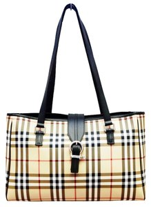 Burberry New Nova Check Cream Changing Pad Travel Mat Tote Shoulder Multi-Color Diaper Bag