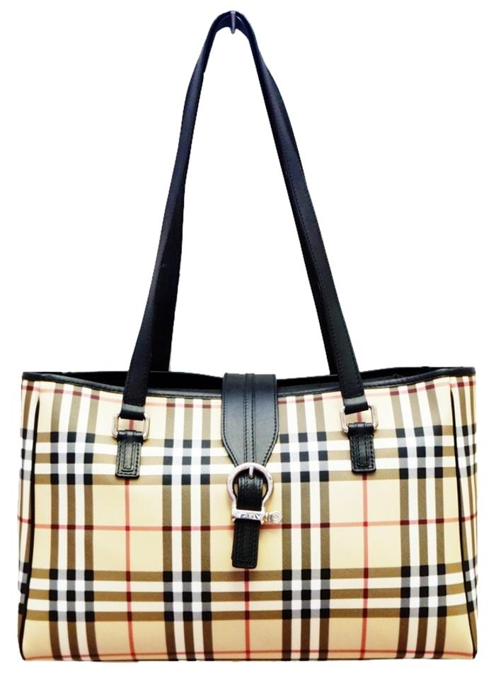 19dd86a93376 Burberry New Nova Check Changing Travel Pad Tote Shoulder Multi-color Canvas  Leather Diaper Bag