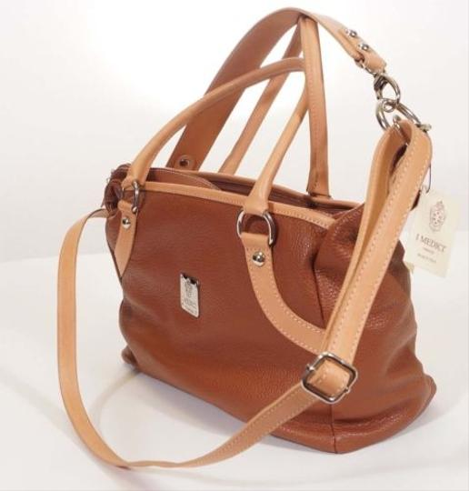 Other I Medici Firenze Women Leather Crossbody Tate Tote Hand Shoulder Italy Satchel in Brown