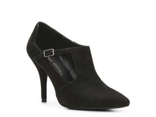 Audrey Brooke Delores Womens Suede Leather Black Boots