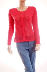 Cynthia Rowley Womens Crewneck See Through Sweater