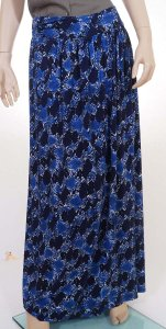 Rebecca Taylor 313558s773 Womens Indigo Combo Snake Print Long Skirt Blue