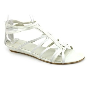 Nine West Makaia Womens Open Toe Gladiator White Sandals