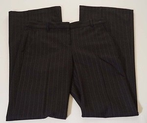 Theory Adelson Womens Wool Charcoal Pinstripe Flare Dress X Pants