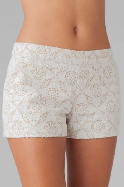 Joie Jarletta Womens Mesh Lace Lined Casual Shorts White