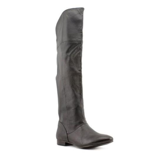 Chinese Laundry Z Southland Womens Nappa Leather Over Knee Black Boots