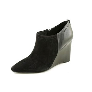 Vince Camuto Kemper Womens Suede Leather Wedges Heels Black Boots