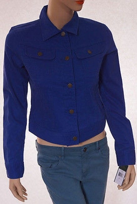 Ralph Lauren Womens Esquire Denim Stretchy Medium Blue Jacket