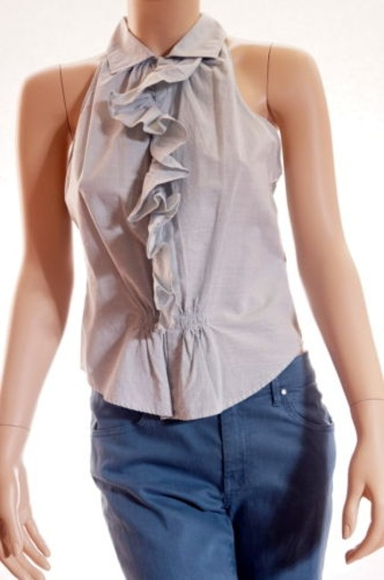 Preload https://img-static.tradesy.com/item/5501677/ralph-lauren-blue-label-womens-ruffled-buttondown-sleeveless-shirt-top-blouse-4-0-0-650-650.jpg