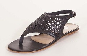 Other Gmd Womens Leather T Strap Thong Slingback Black Sandals