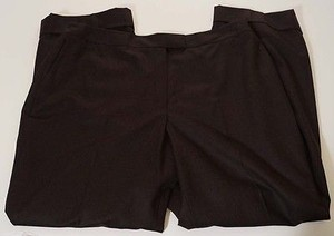Brooks Brothers Brothers Womens Wool Cuffed Flat Front Straight Leg Dress 20w Pants
