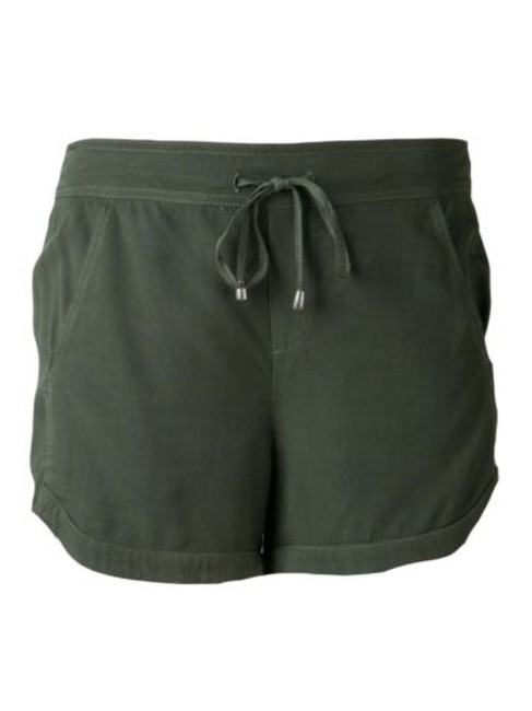 Splendid Sb597 Womens Drawstring Elastic Casual Dolphin Shorts Green