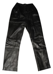 Rocco de Amelio Leather Leather Boot Cut Pants black