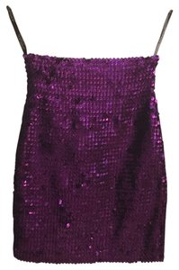 Topshop Party Chic Mini Skirt Purple Sequins