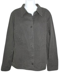 Marina Rinaldi Polka Dot BLACK Jacket