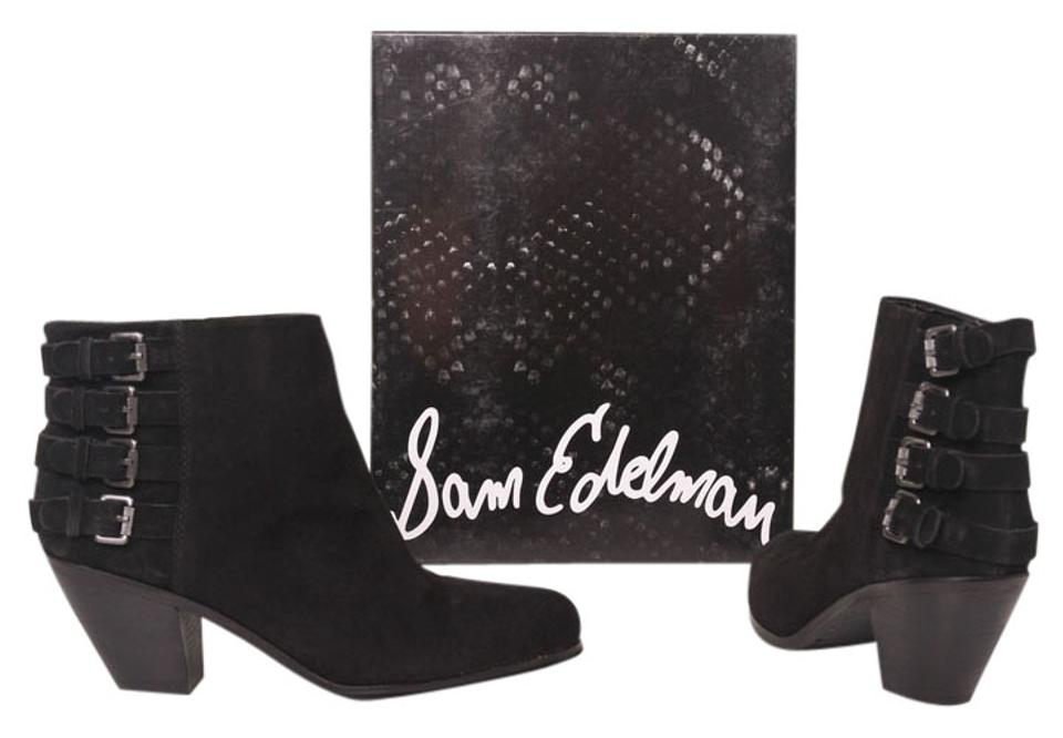 22984e01ff1fb1 Sam Edelman Black Lucca 4-buckle Boots Booties Size US 9 Regular (M ...