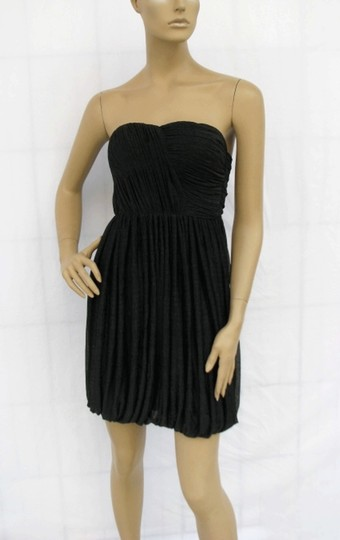 Preload https://img-static.tradesy.com/item/550273/black-chiffon-allover-pleated-strapless-sizelrg-sexy-bridesmaidmob-dress-size-12-l-0-0-540-540.jpg