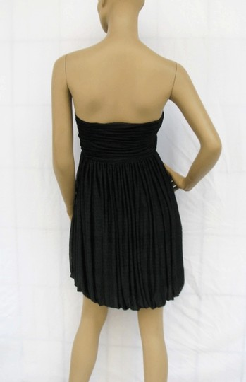 Black Chiffon Allover Pleated Strapless Size:lrg Sexy Bridesmaid/Mob Dress Size 12 (L)