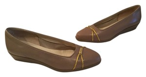 Bally Taupe Wedges