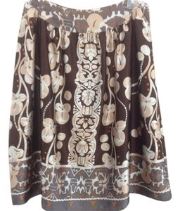 Apostrophe Skirt Multi Brown/Cream