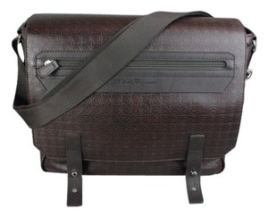 Salvatore Ferragamo Brown Messenger Bag