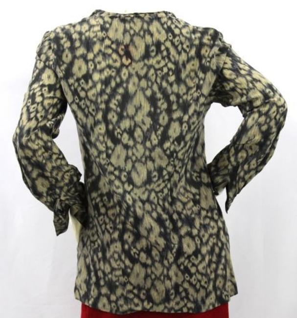 T Tahari Print Cotton Silk Top