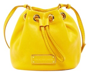 Marc by Marc Jacobs Yellow Drawstring Tote Bucket Mini Cross Body Bag