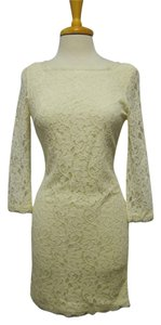 Diane von Furstenberg Classic Lace Low Back Scalloped Dress