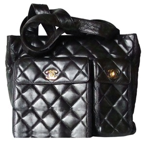 Chanel Timeless Quilted Lambskin Tote 24 Karat Gold Handbag Shoulder Bag