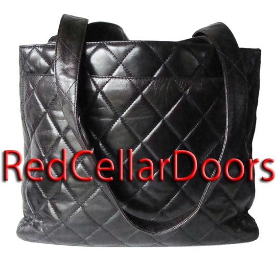 Chanel Timeless Quilted Lambskin Tote 24 Karat Gold Purse Hand Shoulder Bag