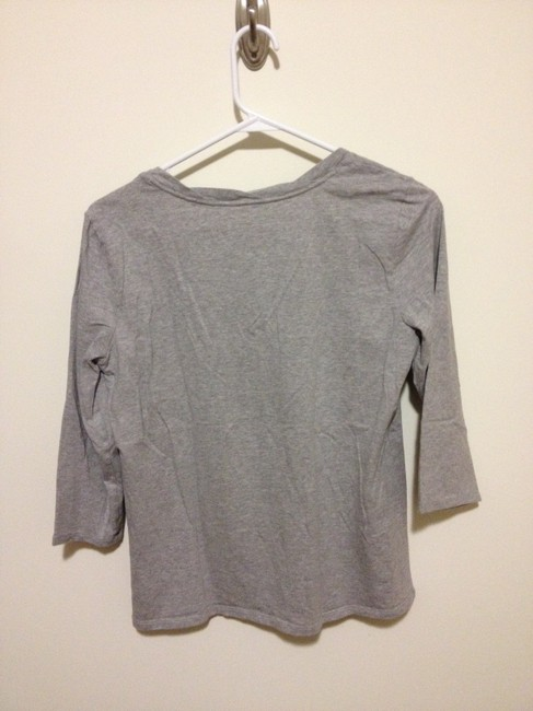 Coldwater Creek M Medium Cotton Spandex Comfortable Three-quarter Sleeve Top Grey