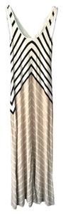 White Black Gold Maxi Dress by Calvin Klein