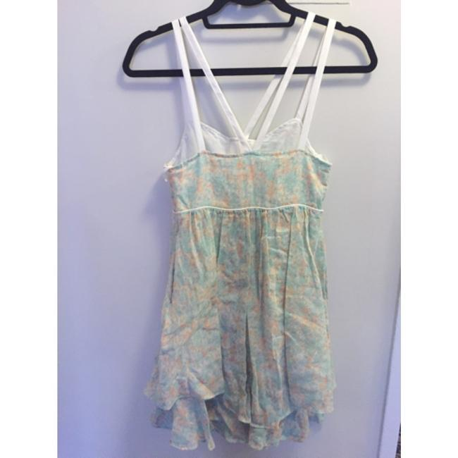 Free People short dress Light green floral on Tradesy
