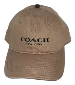 Coach Coach Logo Dark Khaki Adjustable Baseball Cap Hat, OS 86005 ($75)