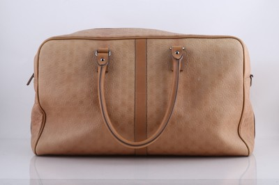 3936bc9cab1e ... Salvatore Ferragamo BrownTan Embossed Duffle Brown Leather  WeekendTravel Bag - Tradesy newest collection efa9a 7d779 ...