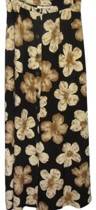 Chaus Maxi Skirt black with flower print