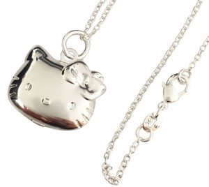 Hello Kitty New Hello Kitty Cartoon Anime Locket Pendant Photo Necklace