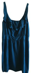 Ann Taylor LOFT Silk Blue Ruffles Dress