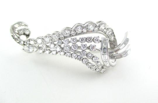 Other PLATINUM PIN BROOCH 65 GENUINE DIAMONDS 3 CARAT 10.5 GRAMS FINE JEWELRY VINTAGE