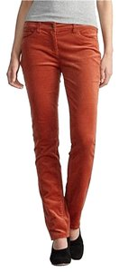 Eileen Fisher Velvety Corduroy Corduroy Slim Jeans Tencel Straight Pants RUST