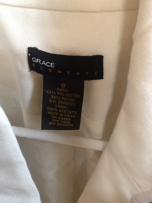 Grace Elements Gc Off white with blue lines Jacket