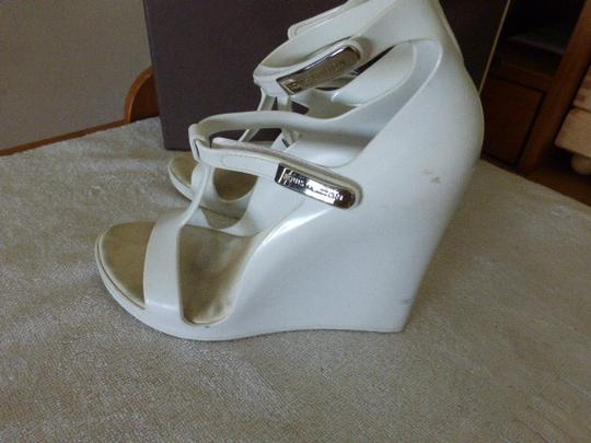 Louis Vuitton WHITE JELLY Wedges
